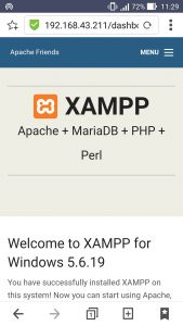 XAMPP Android tethering